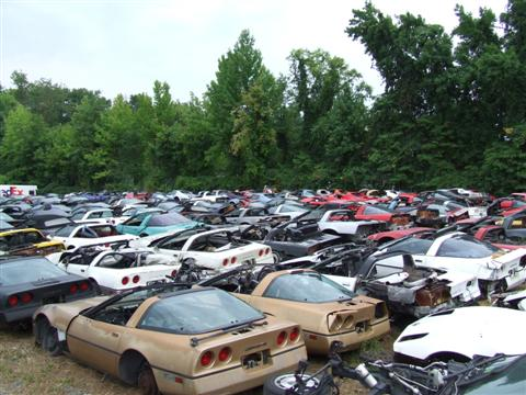 Contemporary Corvette's salvage yard