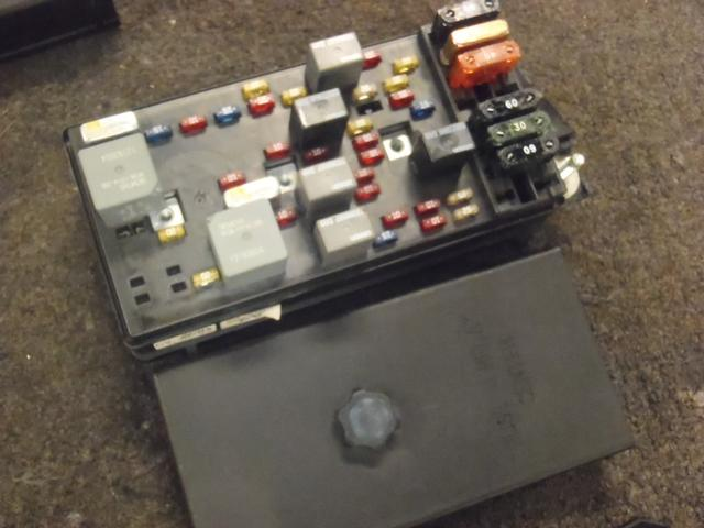 Electrical Fuse Box Parts : Corvette c interior fuse box panel