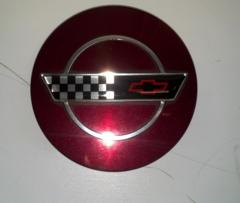 93 Corvette C4 40th Anniversary Edition Center Cap Ruby Red