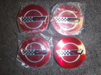 93 Corvette 40th Anniversary Wheel Center Caps SET NEW