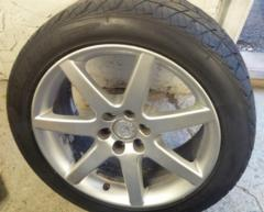 08 Cadillac CTS-V 18 Inch Wheel And Tire Silver